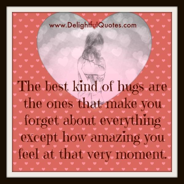 How the best hugs makes you feel