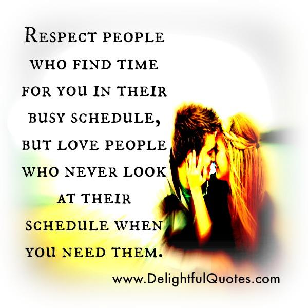 Find time for your love quotes