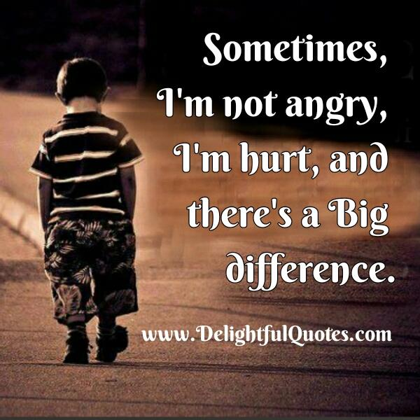 Sometimes I'm not Angry, I'm Hurt – Delightful Quotes