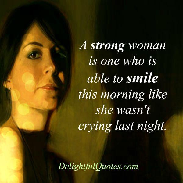 How strong woman really really is?