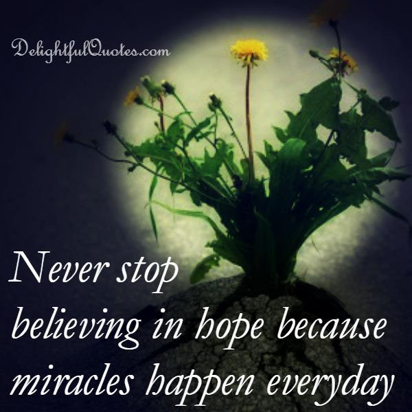 Miracles do happen everyday