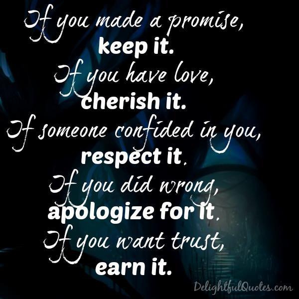 If you have love, cherish it