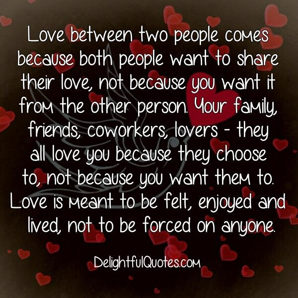 How love between two people comes?