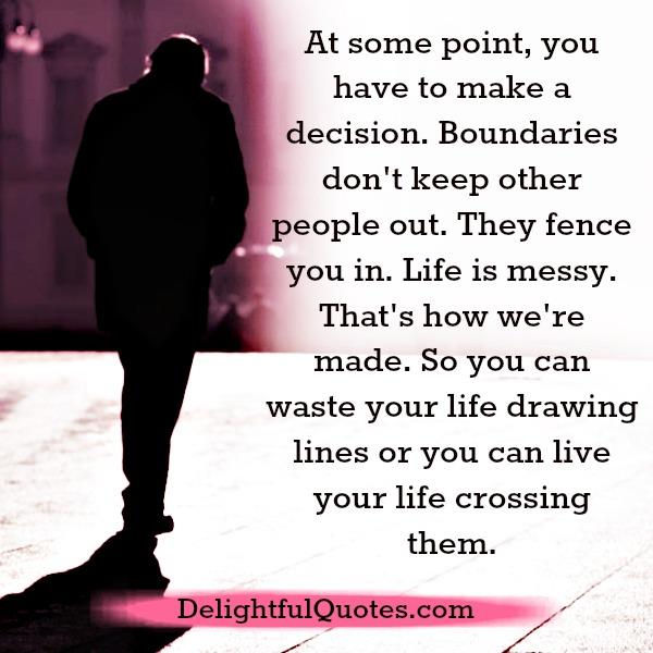 Boundaries don't keep other people out