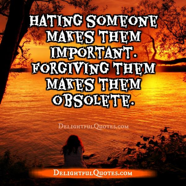 Hating someone makes them important