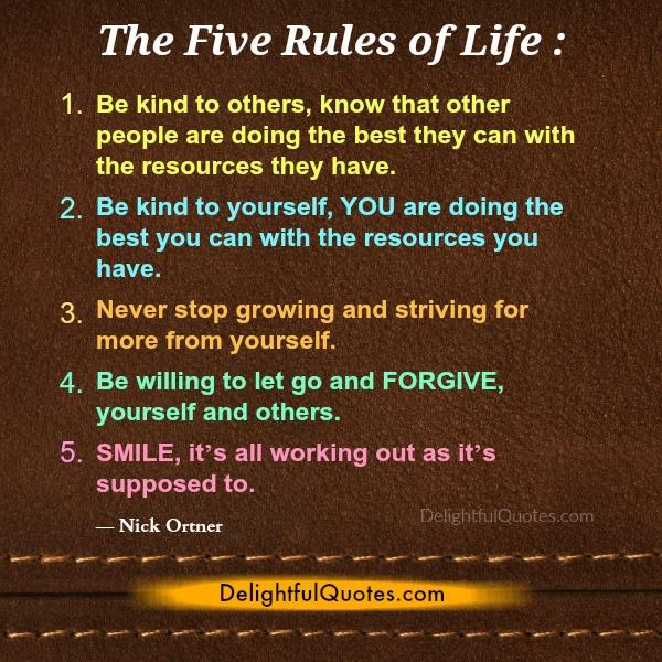 The Five Rules of Life